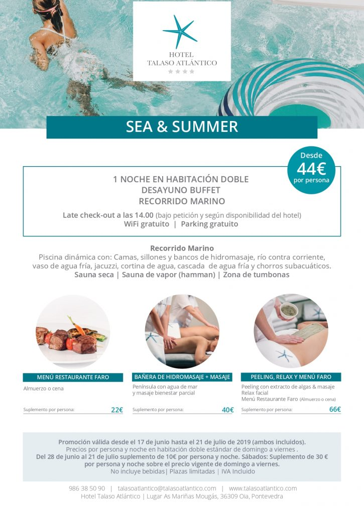 Oferta Sea and Summer en Talaso Atlantico
